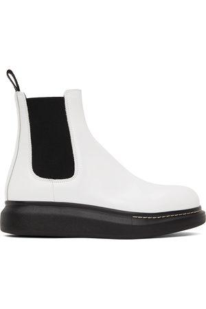 Alexander McQueen White Hybrid Chelsea Boots