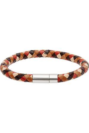Paul Smith Men Bracelets - Multicolor Woven Leather Bracelet