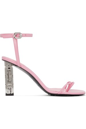 Givenchy Pink Triple Toes Heeled Sandals