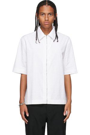 Givenchy Men Short sleeves - White Zip Logo Short Sleeve Shirt