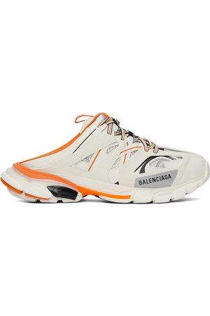 Balenciaga White & Orange Track Mule Sneakers
