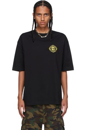 Balenciaga Black Medium Fit Crest Logo T-Shirt