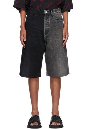 Balenciaga Black & Grey 50/50 Shorts