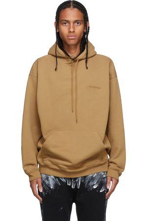 Balenciaga Tan Medium Fit Logo Hoodie