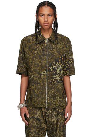 Givenchy Black & Khaki 4G Logo Short Sleeve Shirt