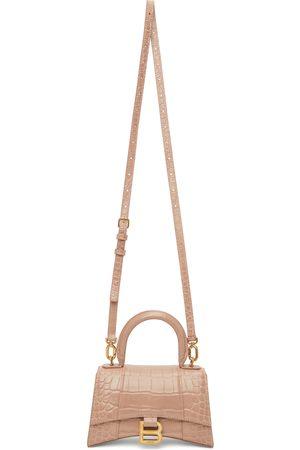 Balenciaga Beige Croc XS Hourglass Bag