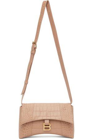 Balenciaga Beige Croc XS Soft Hourglass Bag