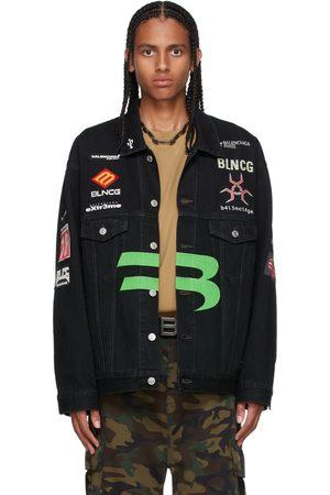 Balenciaga Black Denim Gamer Jacket