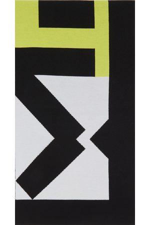 Kenzo Grey & Green Wool Sport Scarf