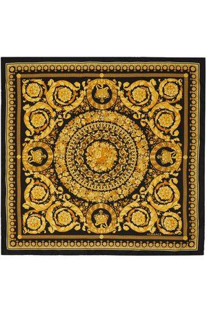 VERSACE Women Scarves - Black & Gold Barocco Print Scarf