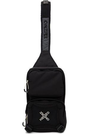 Kenzo Black Sport Logo Single Shoulder Backpack