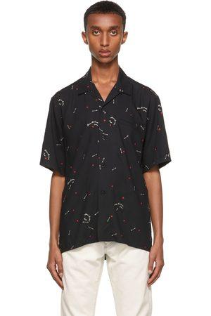 Saint Laurent Black Cupid Print Short Sleeve Shirt