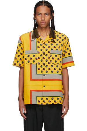 SACAI Men Shirts - Yellow Corduroy Floral Shirt