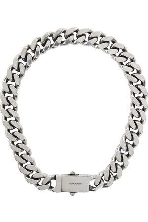 Saint Laurent Men Bracelets - Silver Curb Chain Necklace