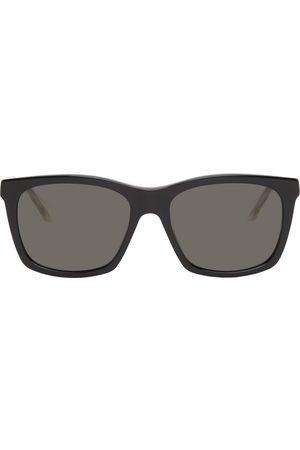 Gucci Black Rectangular Transparent Temple Sunglasses