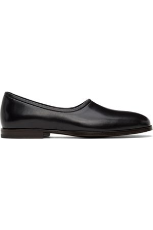 LEMAIRE Black Soft Slippers