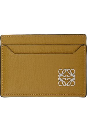Loewe Yellow Anagram Plain Card Holder
