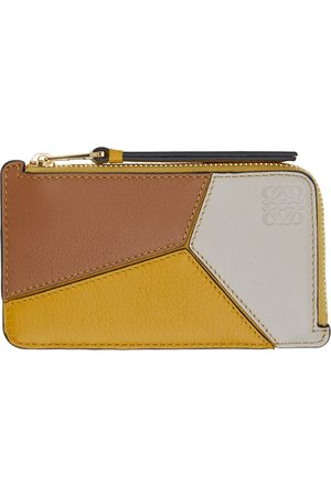 Loewe Women Wallets - Yellow Puzzle Coin Card Holder