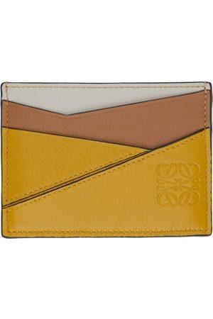 Loewe Yellow Puzzle Plain Card Holder