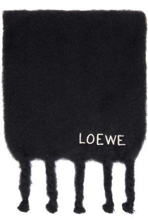 Loewe Black Mohair Scarf