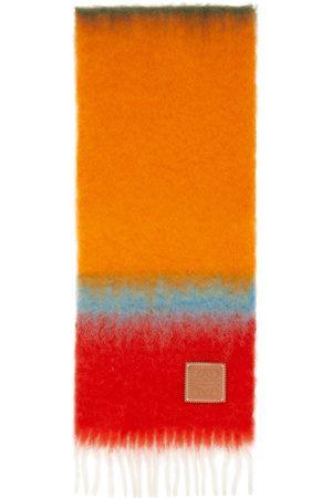 Loewe Men Scarves - Pink & Orange Mohair Stripes Scarf
