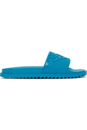 Fendi Blue Rubber FF Slides