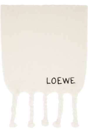 Loewe White Mohair Scarf