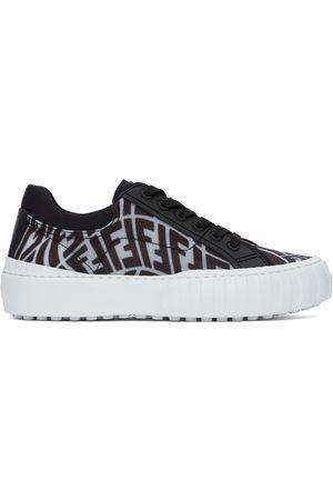 Fendi Black & Transparent FF Vertigo ' Force' Sneakers
