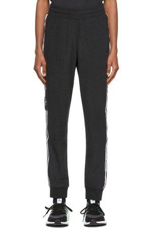 adidas Black Comfort 3-Stripes Lounge Pants