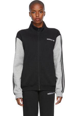 adidas Black & Grey Fleece Firebird Track Jacket