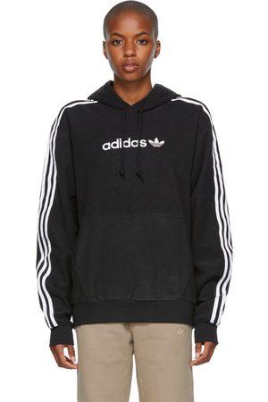 adidas Black Comfort 3-Stripes Hoodie