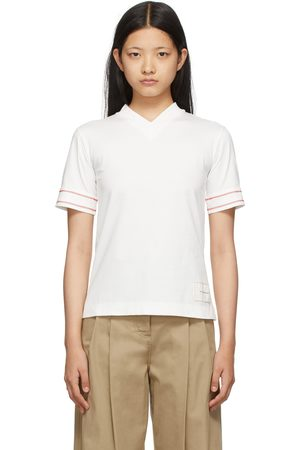 Victoria Beckham Two-Pack Off-White Classic T-Shirts