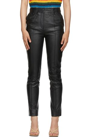 Victoria Victoria Beckham Leather Straight-Leg Trousers