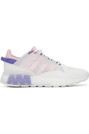 adidas White & Pink ZX 2K Pure Sneakers