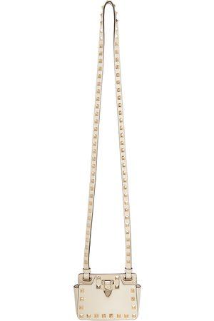 VALENTINO GARAVANI Off-White Rockstud Card Holder Bag