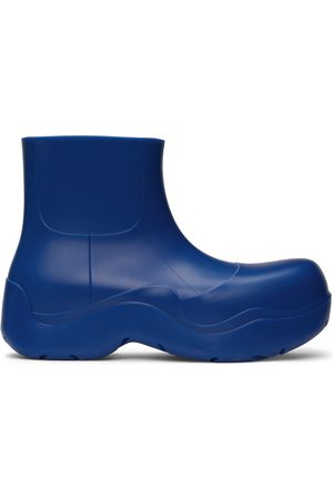 Bottega Veneta Blue Matte Puddle Chelsea Boots