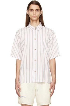 HAN Kjøbenhavn White & Brown Stripe Boxy Short Sleeve Shirt