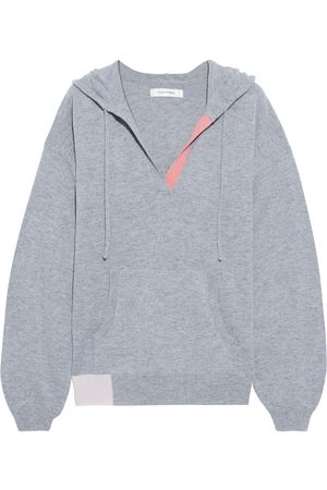 Chinti & Parker Woman Color-block Wool And Cashmere-blend Hoodie Size S