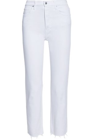 IRO Women High Waisted - Woman Doune Cropped Frayed High-rise Slim-leg Jeans Size 26