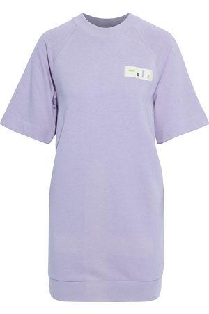 tibi Woman Appliquéd French Cotton-blend Terry Mini Dress Lavender Size XXS
