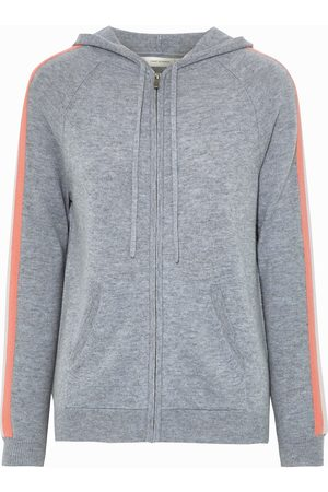 Chinti & Parker Woman Striped Wool And Cashmere-blend Hoodie Size L