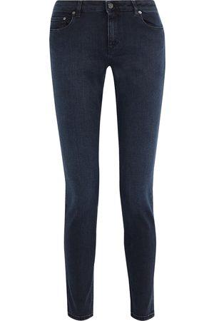 Acne Studios Woman Skin 5 Low-rise Skinny Jeans Dark Denim Size 23W-32L