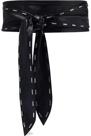 IRO Woman Reilly Studded Leather Waist Belt Size 80