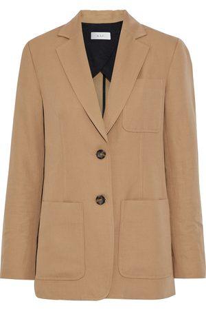 A.L.C. Woman Ludlow Cotton And Linen-blend Twill Blazer Camel Size 4