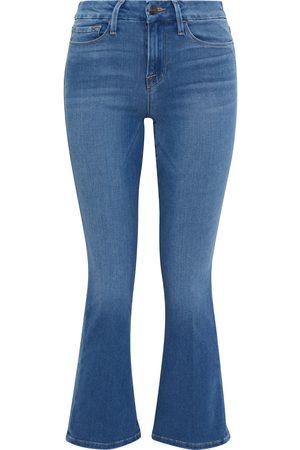 Frame Women Flares - Woman Le Crop Mini Boot Mid-rise Kick-flare Jeans Mid Denim Size 26