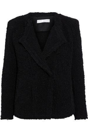 IRO Woman Palie Pintucked Bouclé Blazer Size 36