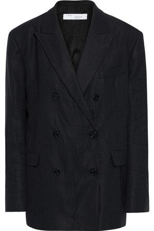 IRO Women Blazers - Woman Nelisa Double-breasted Pinstriped Woven Blazer Size 38