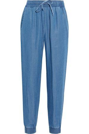 Walter Baker Woman Sophia Lyocell-chambray Tapered Pants Mid Denim Size S