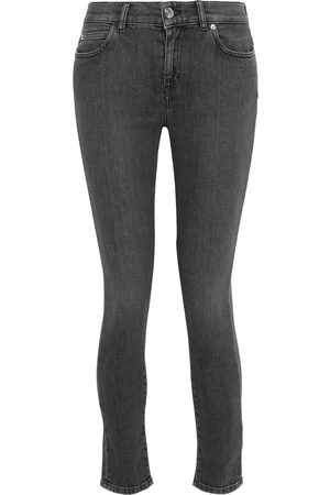 IRO Woman Tober Cropped Low-rise Skinny Jeans Charcoal Size 26