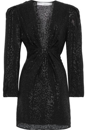 IRO Women Party Dresses - Woman Ribunea Gathered Fil Coupé Silk-blend Chiffon Mini Dress Size 38